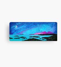 Moon Light Over Rum And Sanna Bay, Ardnamurchan Peninsula.40 Canvas Print