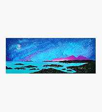 Moon Light Over Rum And Sanna Bay, Ardnamurchan Peninsula.40 Photographic Print