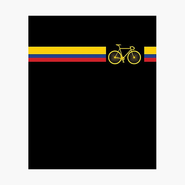 Colombian Cycling Colombia Flag Colors Cyclist Bicycle Photographic Print