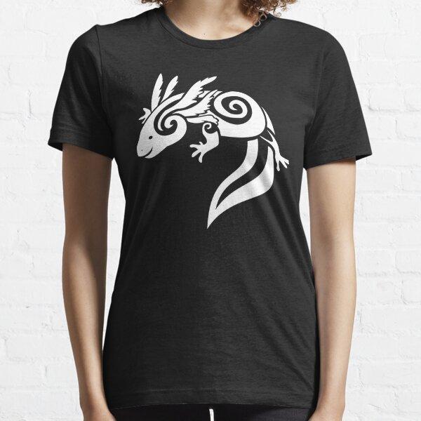WhiteTribal Axolotl Mexican Salamander Essential T-Shirt