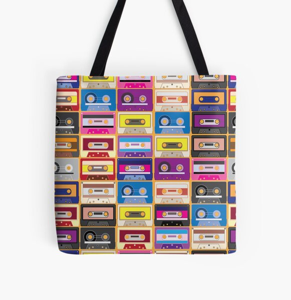 Retro Mix All Over Print Tote Bag