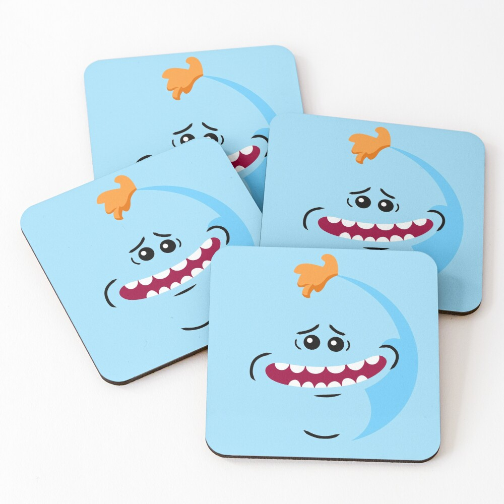Rick and Morty - Mr. Meeseeks Face Coasters (Set of 4)