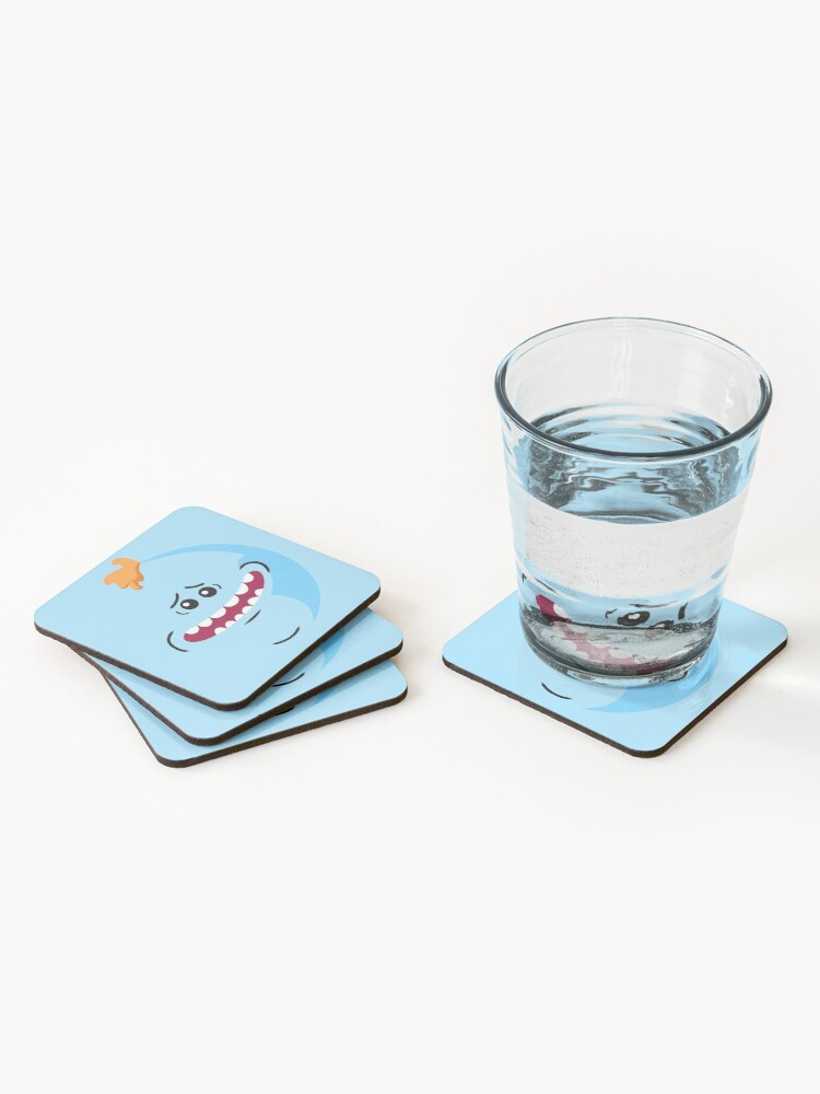 Alternate view of Rick and Morty - Mr. Meeseeks Face Coasters (Set of 4)