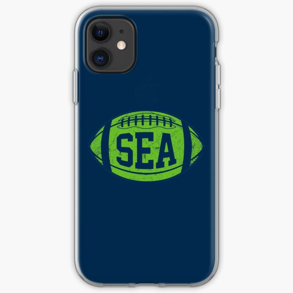 SEA Retro Football - Navy iPhone Soft Case