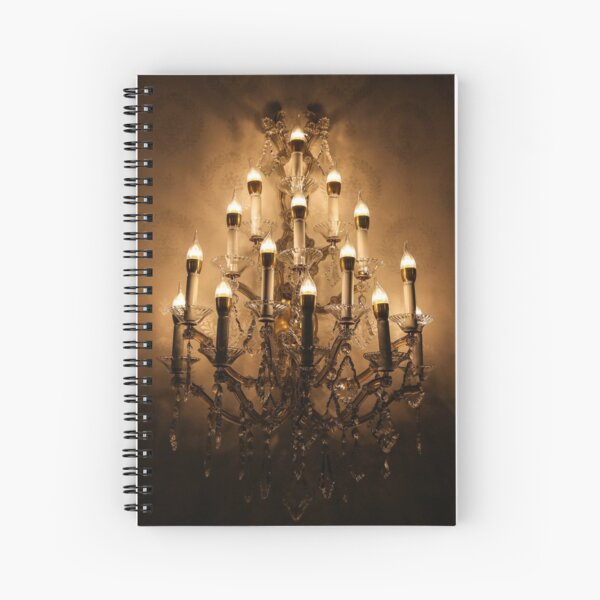 Spooky Chandelier Spiral Notebook