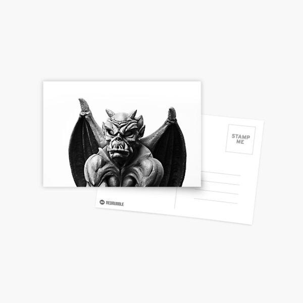Black and White Gargoyle Postcard