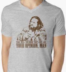 The Big Lebowski Just Like You're Opinion T-Shirt Men's V-Neck T-Shirt