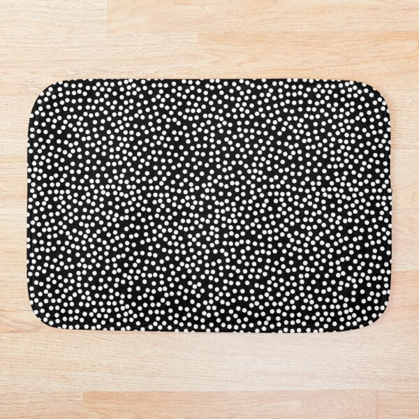 Classic Baby Polka Dots in black and white. Bath Mat