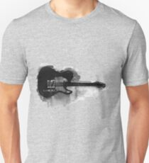 black and white electric guitar T-Shirt