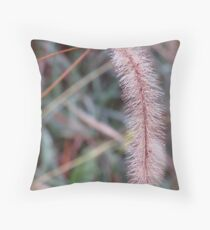 Rain Drops on Grass Throw Pillow