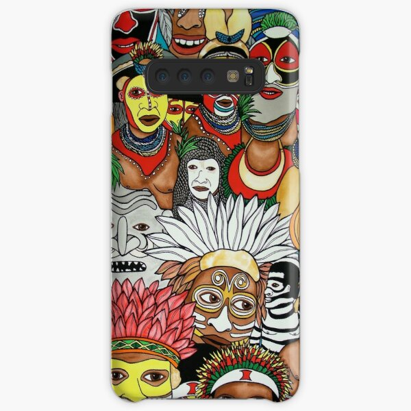 #259 - NATHALIE LE RICHE - ART and GIFTS - PAPUA NEW GUINEA TRIBES - Unique PNG Culture  Samsung Galaxy Snap Case