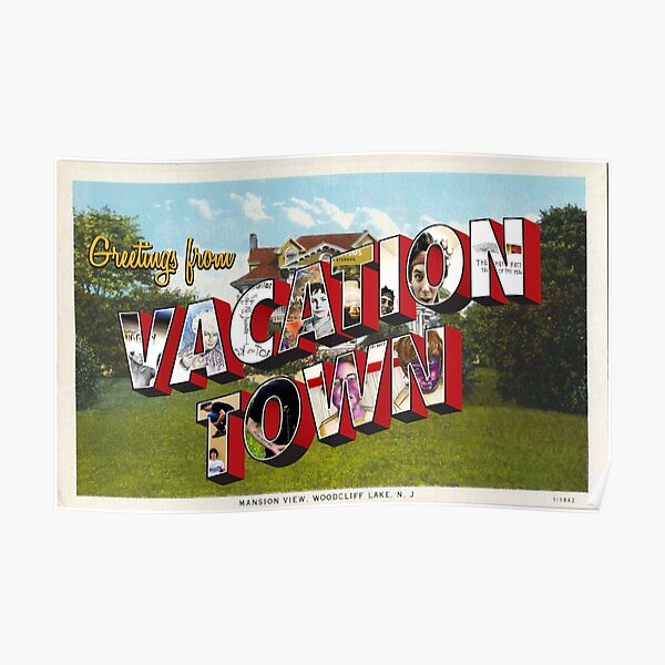 Vacation Town Postcard (TFB) Poster