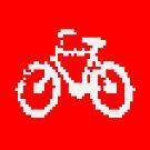1 bit pixel bike (white) by Pekka Nikrus