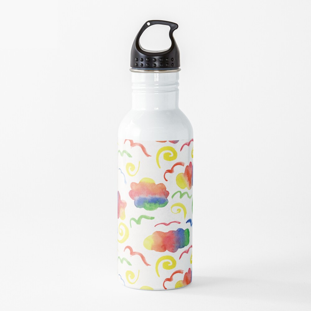 Rainbow clouds Water Bottle