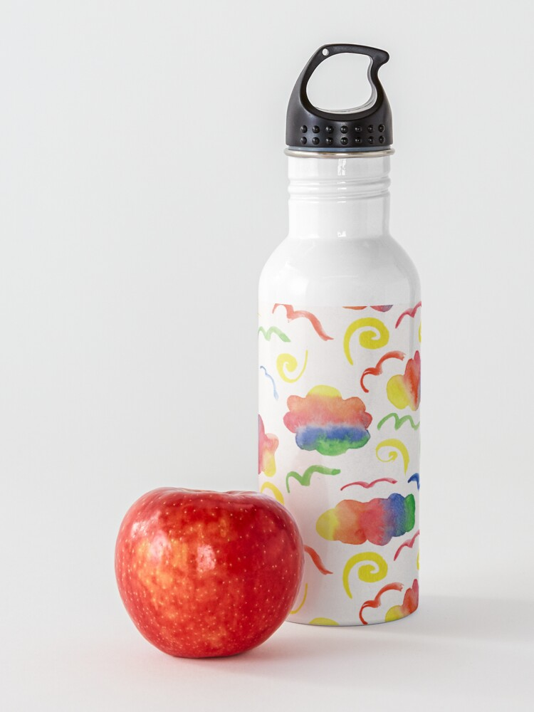 Alternate view of Rainbow clouds Water Bottle
