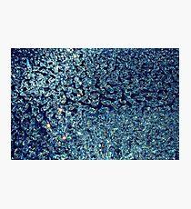 Blue Diamonds Photographic Print