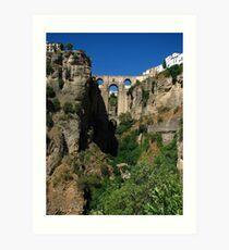 El Tajo Canyon, Ronda, Spain 2015 Art Print