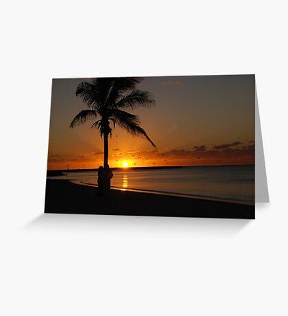 Sunrise in Key West Florida Greeting Card