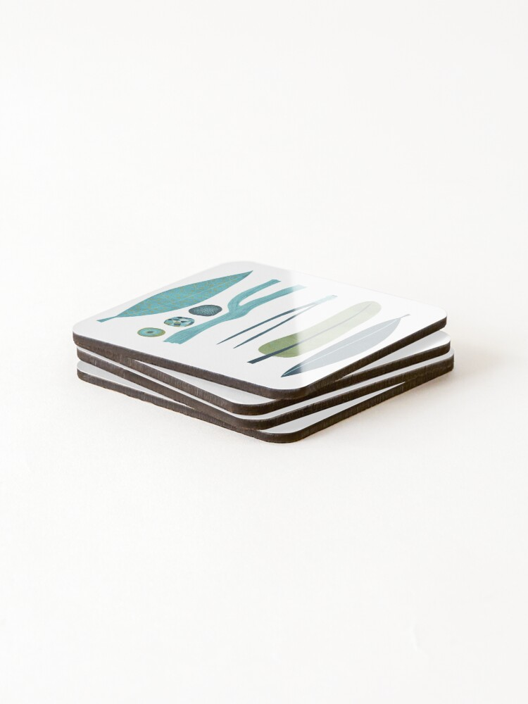 Alternate view of Sticks and Stones Illustration Coasters (Set of 4)