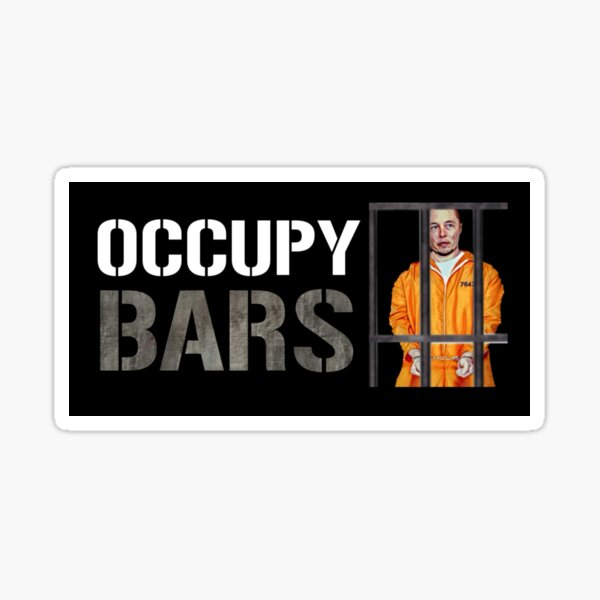 Occupy Bars Sticker