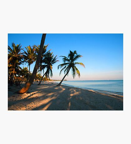 Evening Light at Smather's Beach in Key West FL Photographic Print