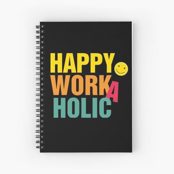 Happy Workaholic transparent black Spiralblock