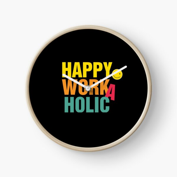 Happy Workaholic transparent black Uhr