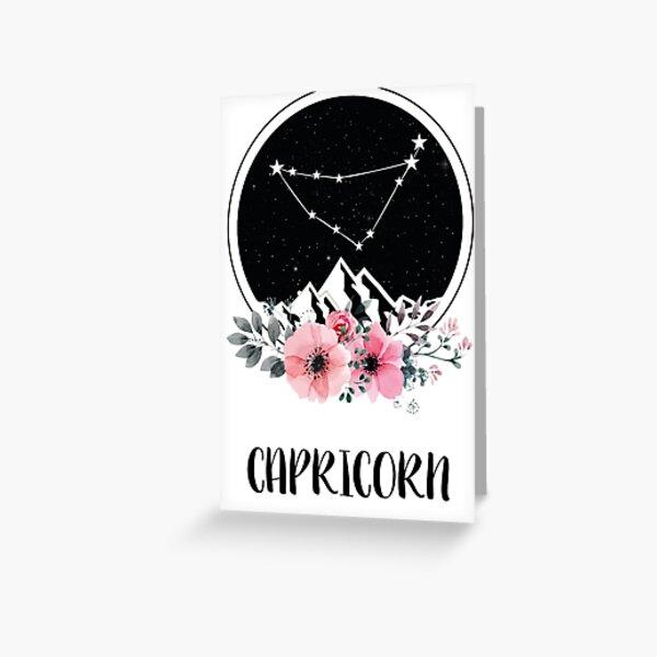 Capricorn zodiac star sign Greeting Card