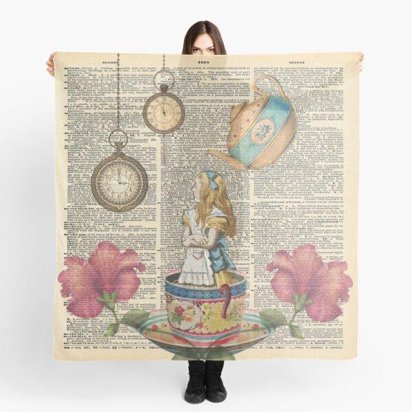 It's Always Tea Time - Alice In Wonderland Scarf