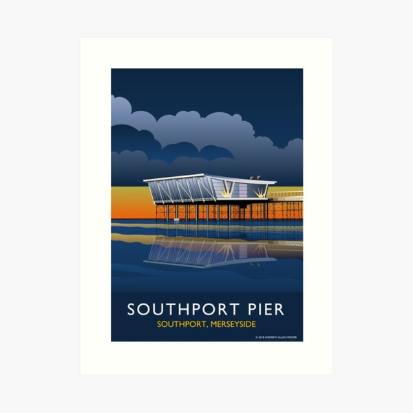 Southport Pier at Night Art Print
