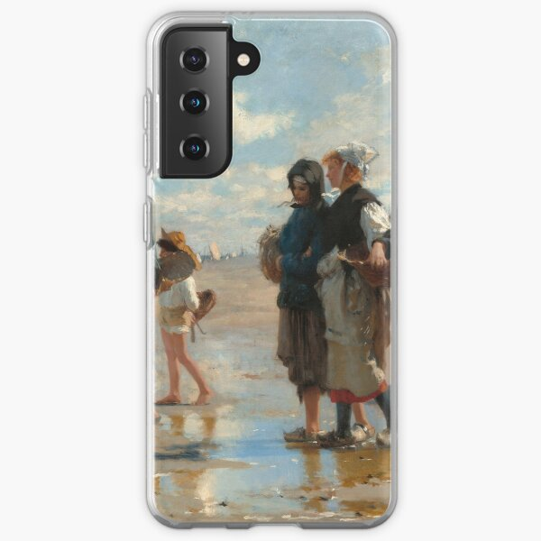 Setting Out to Fish Oil Painting by John Singer Sargent Samsung Galaxy Soft Case