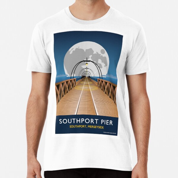 Southport Pier with Moon Premium T-Shirt