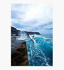 Mike Brennan Ledge Jump Shipstern Bluff Photographic Print