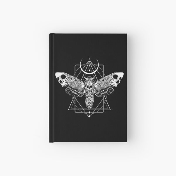 Surreal Death Moth Hardcover Journal