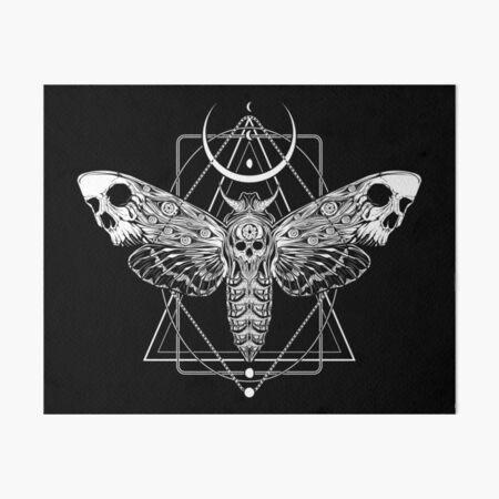 Surreal Death Moth Art Board Print