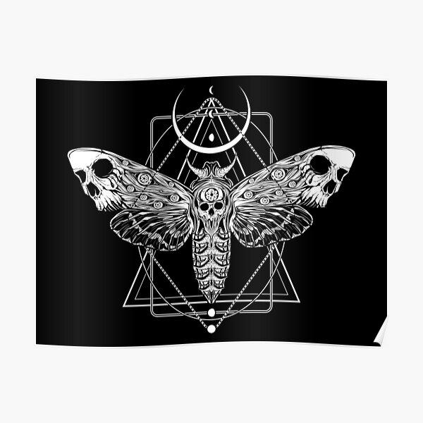 Surreal Death Moth Poster