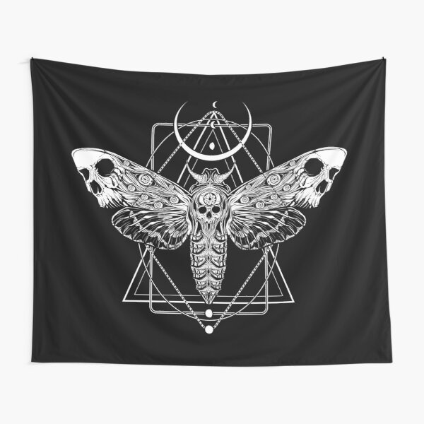Surreal Death Moth Tapestry