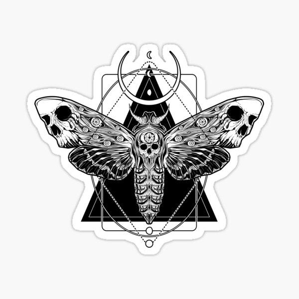 Surreal Death Moth Sticker