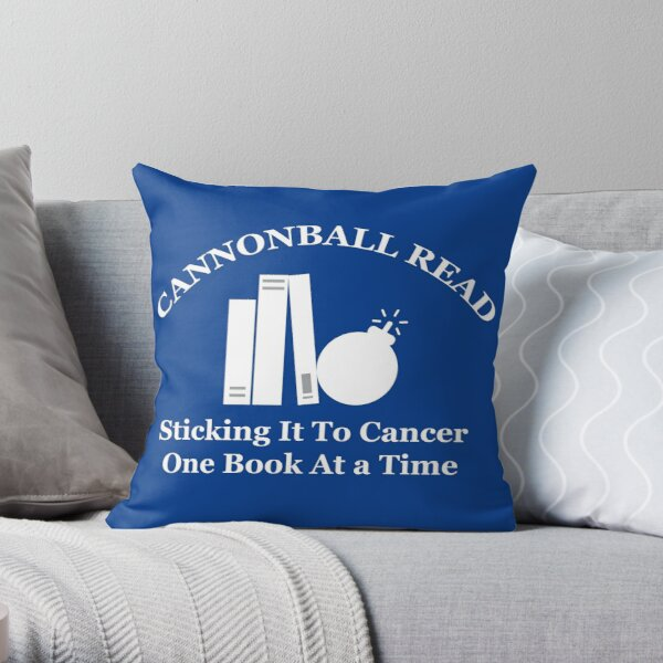 Cannonball Read Logo in White Throw Pillow
