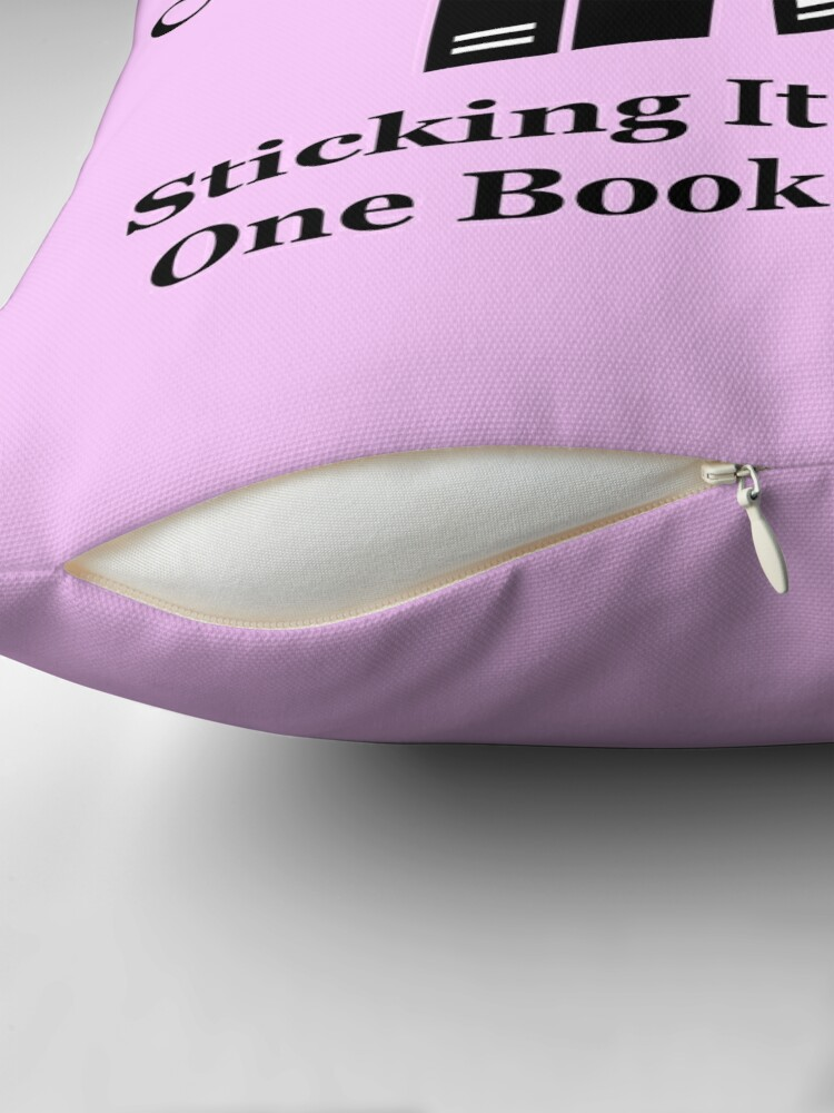 Alternate view of Cannonball Read Logo in Black Throw Pillow