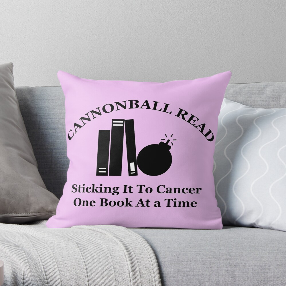 Cannonball Read Logo in Black Throw Pillow