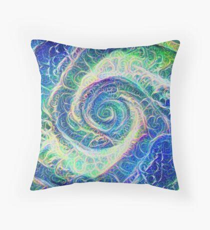 Vortex dragon #DeepDream B Floor Pillow