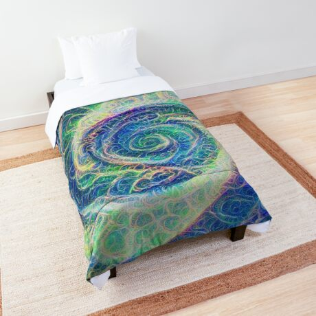 Vortex dragon #DeepDream B Comforter