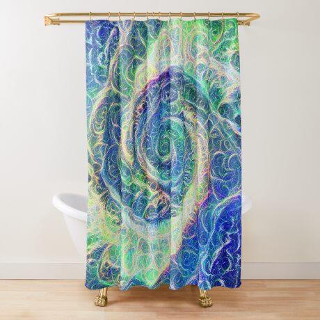 Vortex dragon #DeepDream B Shower Curtain