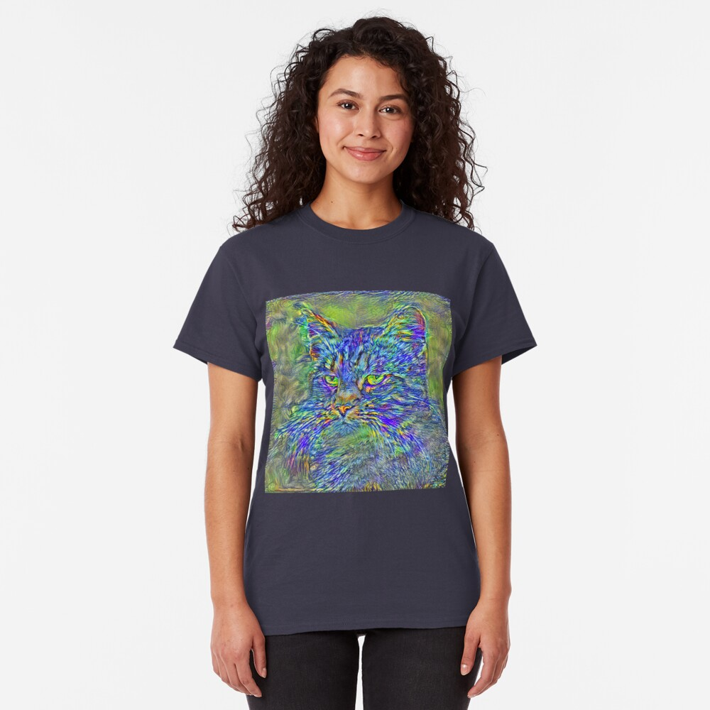Artificial neural style Post-Impressionism cat Classic T-Shirt