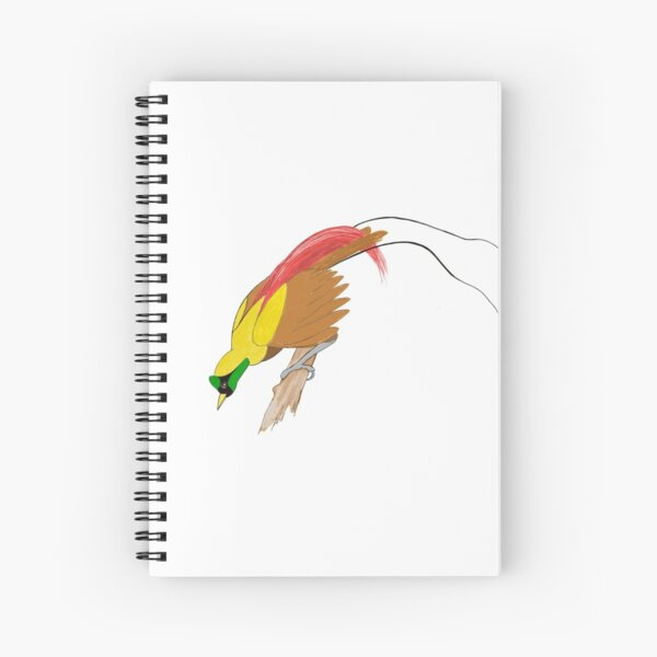 Red Bird of Paradise Spiral Notebook