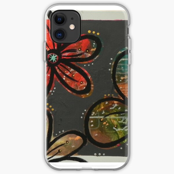 Gray Blossoms iPhone Soft Case