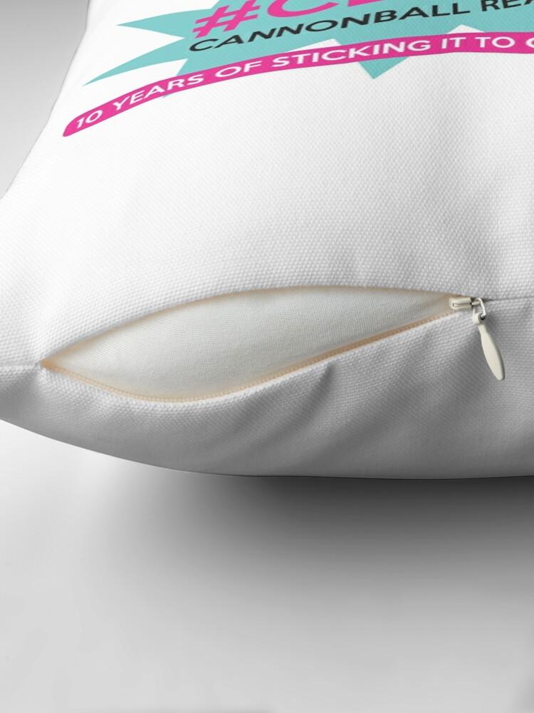 Alternate view of CBR10 Anniversary Design Throw Pillow