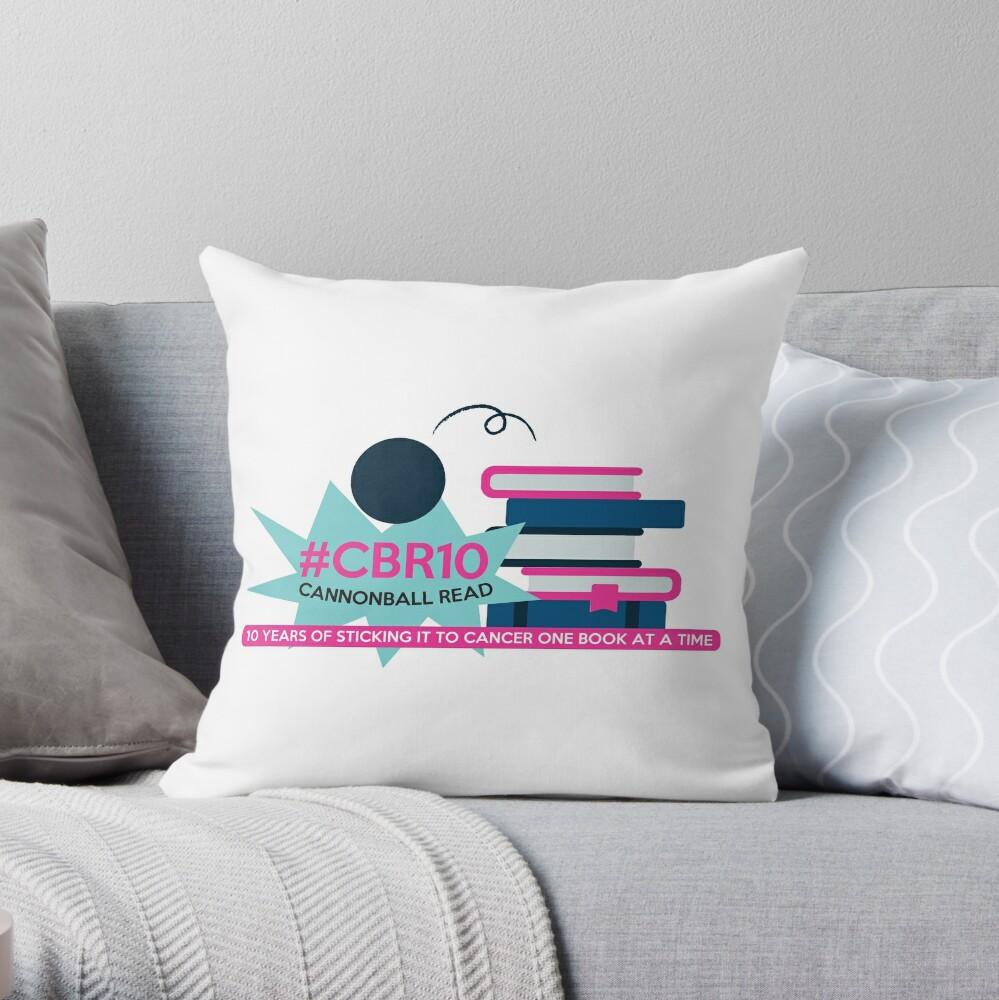 CBR10 Anniversary Design Throw Pillow
