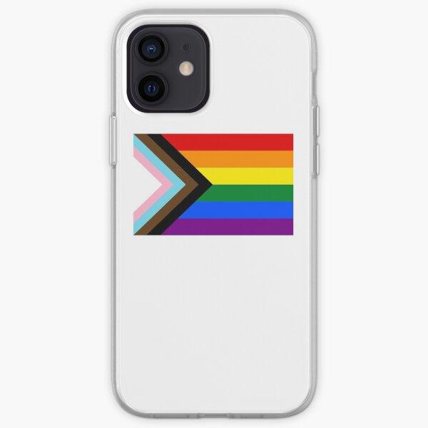 Fierté progrès drapeau LGBT Coque souple iPhone